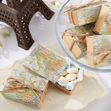 La boîte à dragées carte géographique
