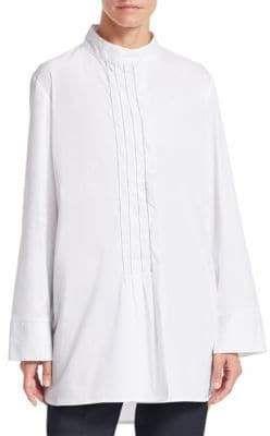 391d23bcb9770a Fabiana Filippi Metallic Trim Bib Tunic Shirt #Metallic#Filippi#Fabiana