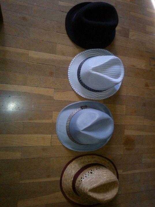 Chosing a hat....