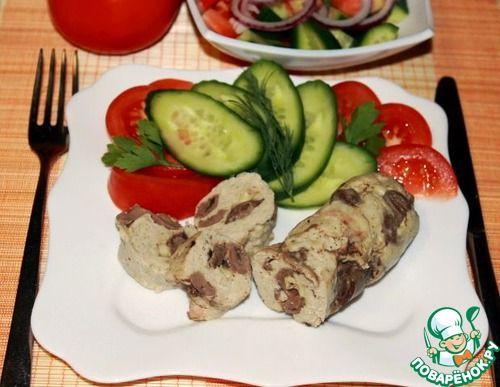 Куриные колбаски с сердечками и сыром - кулинарный рецепт