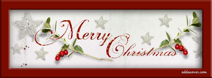 Merry Christmas Holly Facebook Cover