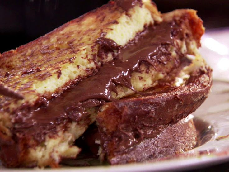 Chocolate Hazelnut Stuffed French Toast Recipe : Claire Robinson : Food Network - FoodNetwork.com