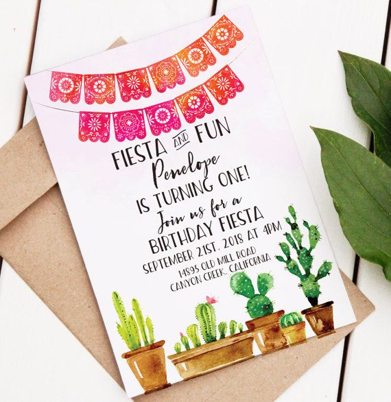 Fiesta Birthday Invitation  Editable Printable by BohemianWoods