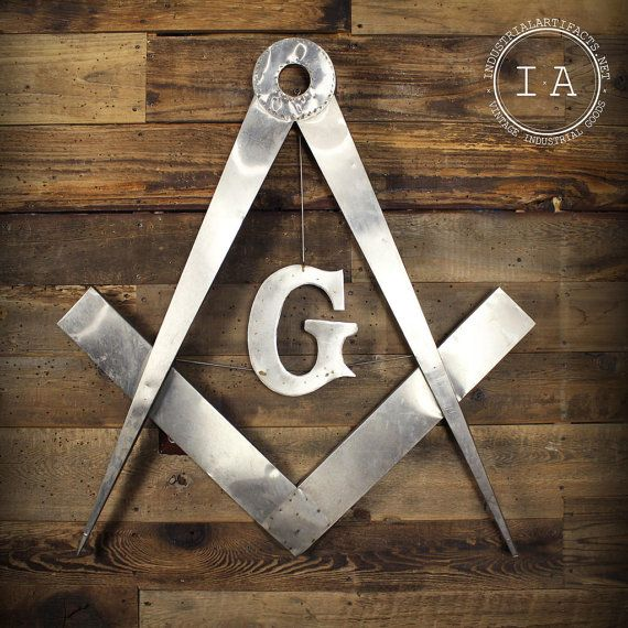 Vintage Handmade Metal Masonic Freemason Sign