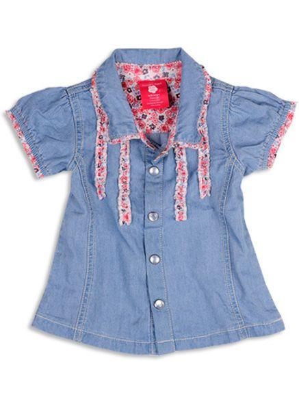 Sale Price: #15.99 (Regular Price: 32.75) Pumpkin Patch - shirt - light weight denim shirt - denim - 6-12mths to 5 UCLICK SHIPPING: (0.5kg) fr $9