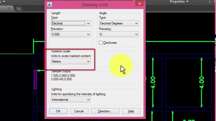 How to setup units in meters,feet,milimeter and inches in AutoCAD?