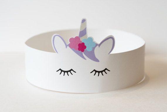 Sombrero del partido unicornio / / corona por HoorayPartyCo en Etsy