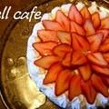 お花のような苺のデコレーションケーキ by ♡すずちゃん♡