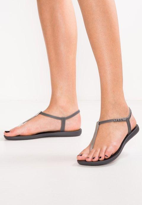 nieuwe stijlen best cool authentieke kwaliteit CHARM - Bade-Zehentrenner - dark grey/grey | ** flip flop ...