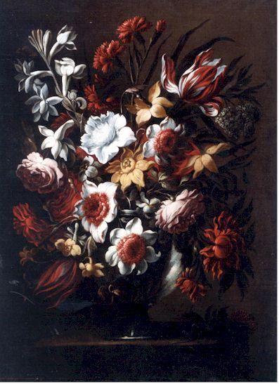 Vase of Flower 5, Oil by Juan De Arellano (1701-1776, Spain)