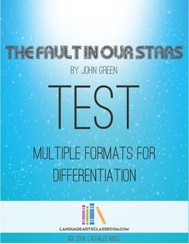 The Fault In Our Stars: multi-format test. This test covers the entire novel by John Green.