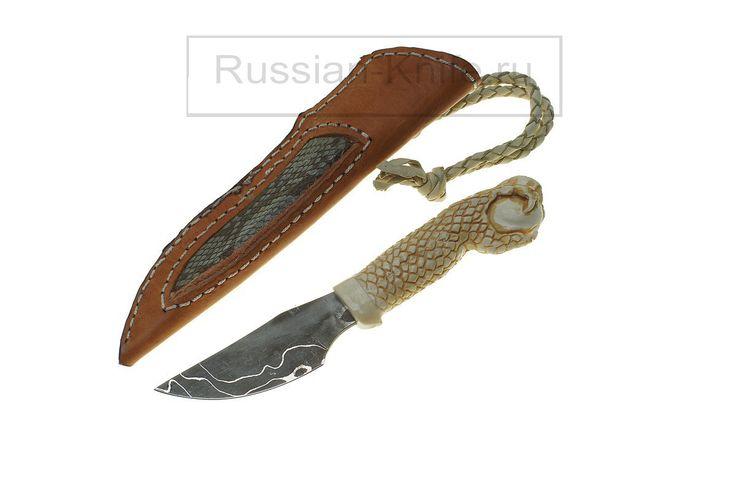"""Нож """"Лапа Дракона"""". Дамаск, рог лося, кожа. """"Dragons Paw"""" knife. Damascus, antler, leather. #купить #авторский #нож #ручной #работы #ножи #изготовление #охотничьи #тактические #оружие #ножик #эксклюзив #ручнаяработа #подарокмужчине #мачете #ножны #холодное #knife #knives #customknives #handmade #knifecommunity #knifecollection #weapon #giftforhim #machete #blade #blades #hunting #survival"""