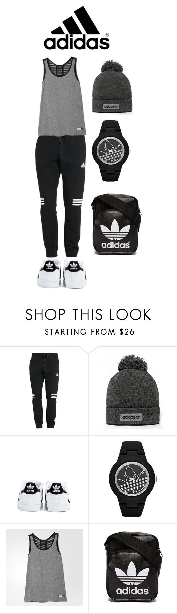 """""""ADIDAS Everything : SPORTY LOOK"""" by bonolon ❤ liked on Polyvore featuring adidas, adidas Originals, women's clothing, women's fashion, women, female, woman, misses, juniors and sporty"""