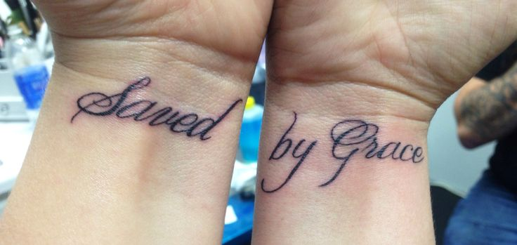 My newest tattoo! Saved by Grace ️ | Cross Tattoo ...