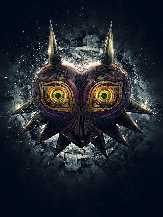 Legend of Zelda Majora's Mask Epic Poster - signed museum quality giclée fine art print