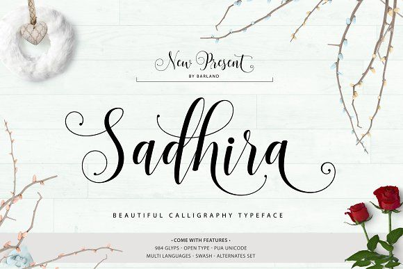 Sadhira Script | 30% Off  by Barland on @creativemarket