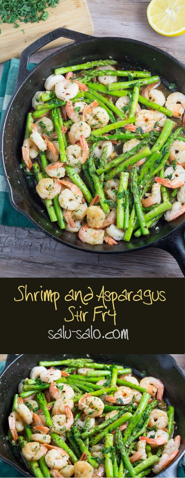 Shrimp and Asparagus Stir Fry - sub Bragg's Liquid Aminos for the soy sauce & it's fabulous