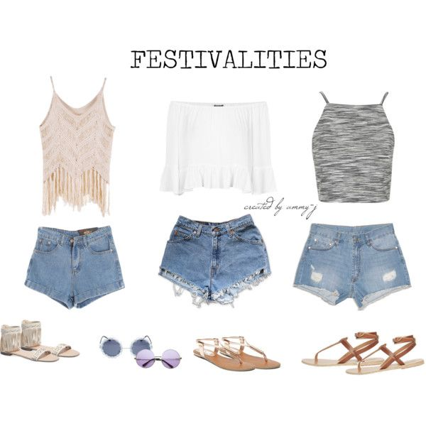 FESTIVAL STYLES by ammy-j on Polyvore featuring Topshop, Levi's, Dricoper, Chicnova Fashion, Ancient Greek Sandals, Wet Seal and Steve Madden