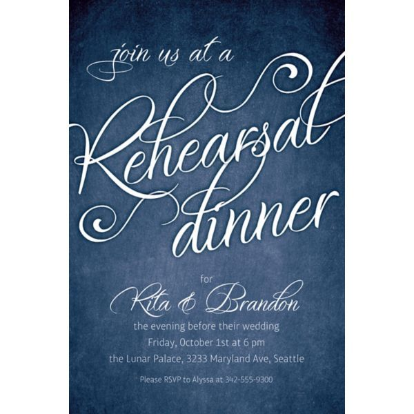 Custom Rehearsal Dinner Script Invitations | Script invitation ...