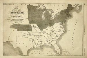Original 1861 Map of the Confederate States Look how large Florida is compared to some of the other southern states