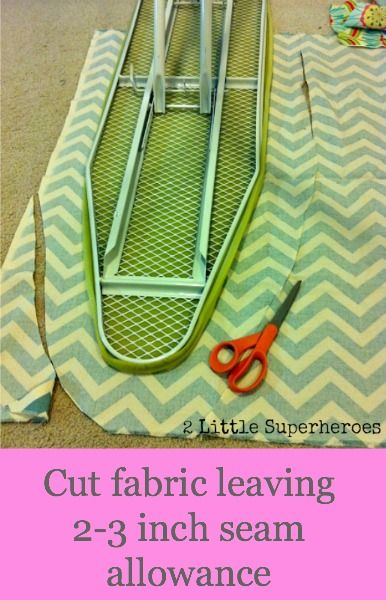 DIY Ironing Board Cover...good because I can't find one that I like & you've just gotta iron on something cute!