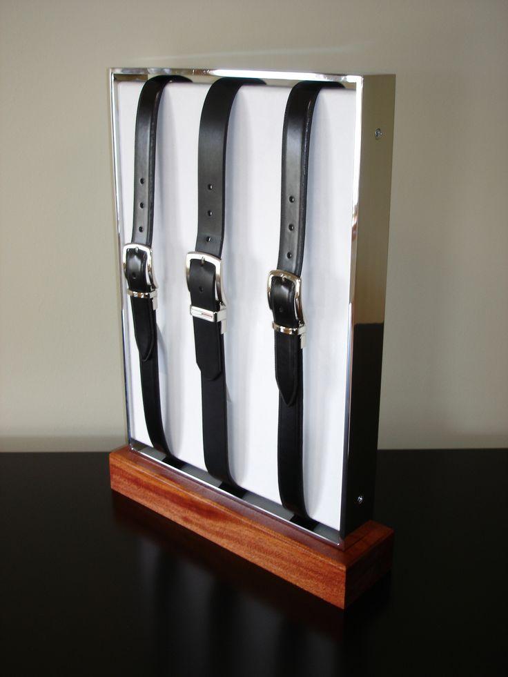 Need a belt rack? I Belt POP display I Vertical Belt Display I Metal I Wood I www.sharndisplays.com