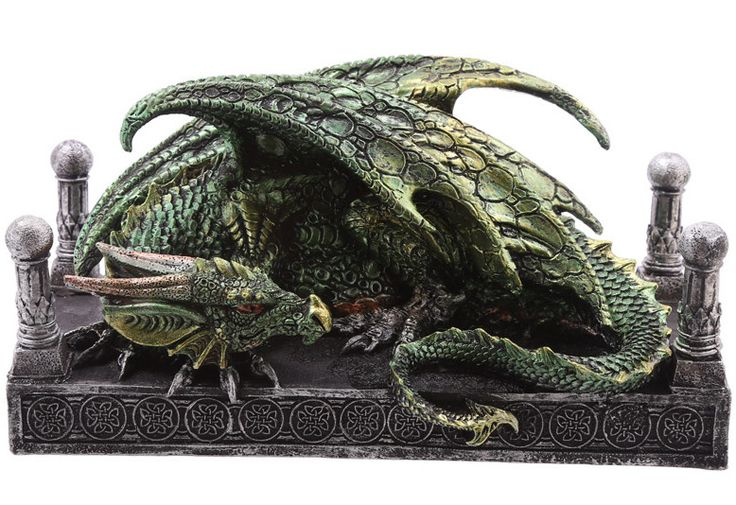 Dragón Verde #dragons #fantasia #fantasy #decor #decoracion #metal #rock #gotico #gothic #gifts #xtremonline