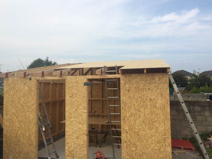 Timber Frame Workshop Construction Osb Sheeting Going