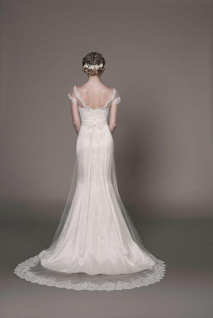 Lace overlay wedding dress uk