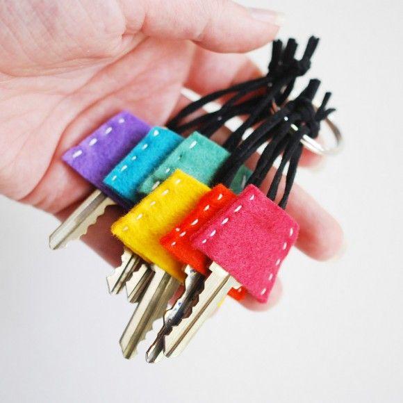 Dollar Store Crafts » Blog Archive » Make Felt Key Covers
