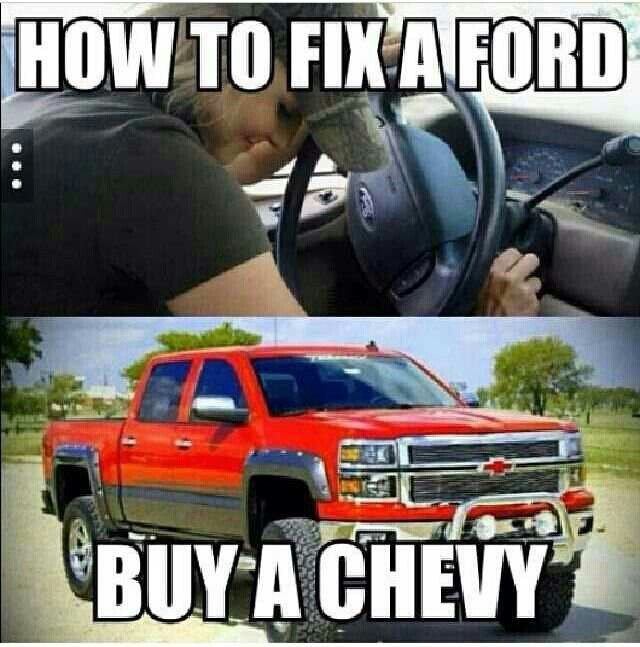 Exactly what my dad would always tell me and to just leave the Ford on the side of the road haha