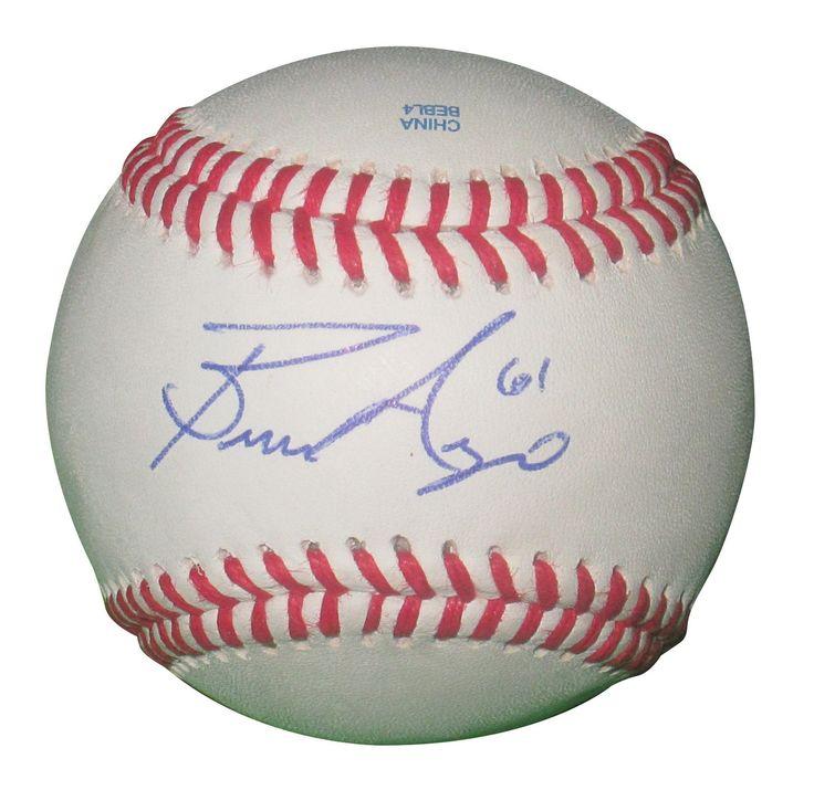 Bronson Arroyo Autographed Rawlings ROLB1 Leather Baseball, Proof Photo