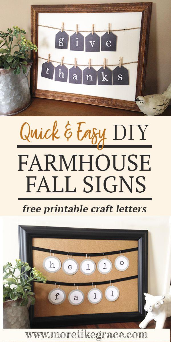 Diy Farmhouse Fall Decor Signs Crafts Fall Decor Diy Fall Crafts
