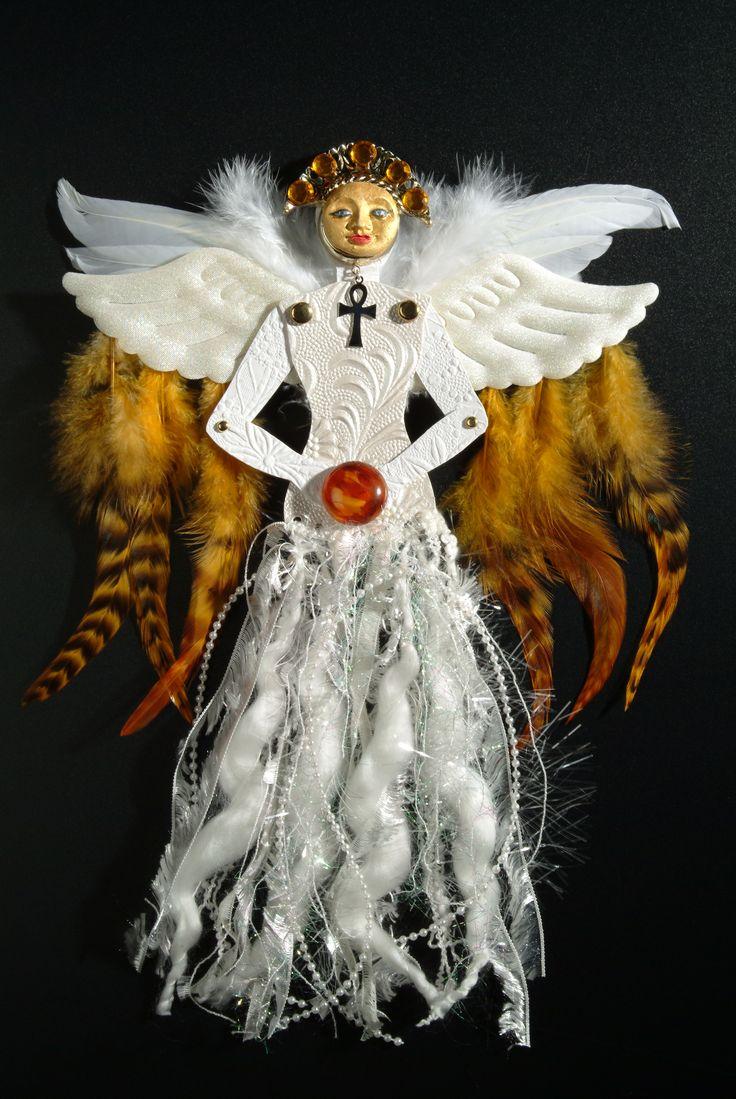 Heather Crossley - CARNELIAN ANGEL - Paper Art Doll