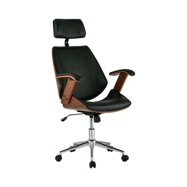 First Mate Office Chair In Black So Nice With The Black Leather And The Exp