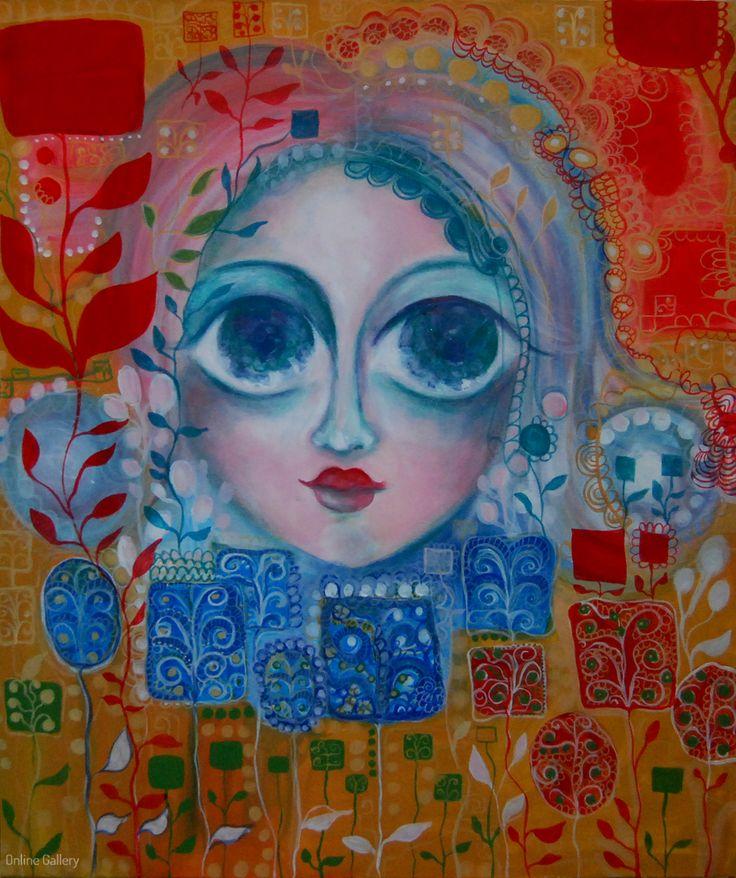 Entitate – pictura pe panza #art, #Painiting, #Creative
