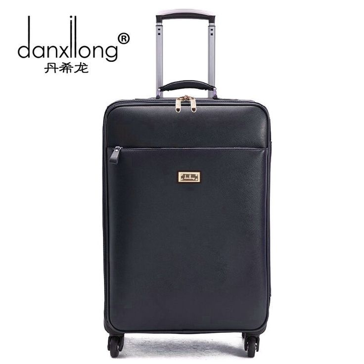 114.79$  Buy now - http://alisiq.worldwells.pw/go.php?t=32733596317 - Danxilong 16 18 20 INCH PU Leather Trolley Luggage Business Trolley Case Men's Suitcase Travel Bag high quality women commercial