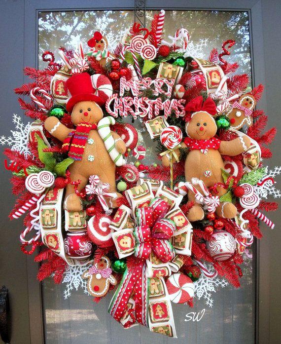 Christmas Wreath Gingerbread Wreath Candy by SeasonalWreaths