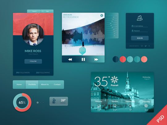 flat design gui kits with psd files showcasing in this article and all psd ui kits files are very useful for designers ui kits in other words ui design - Ui Design Ideas