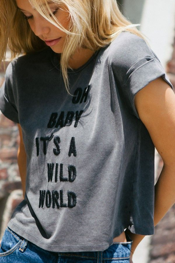 Brandy ♥ Melville | Caleigh Wild World Embroidery Top - Graphics