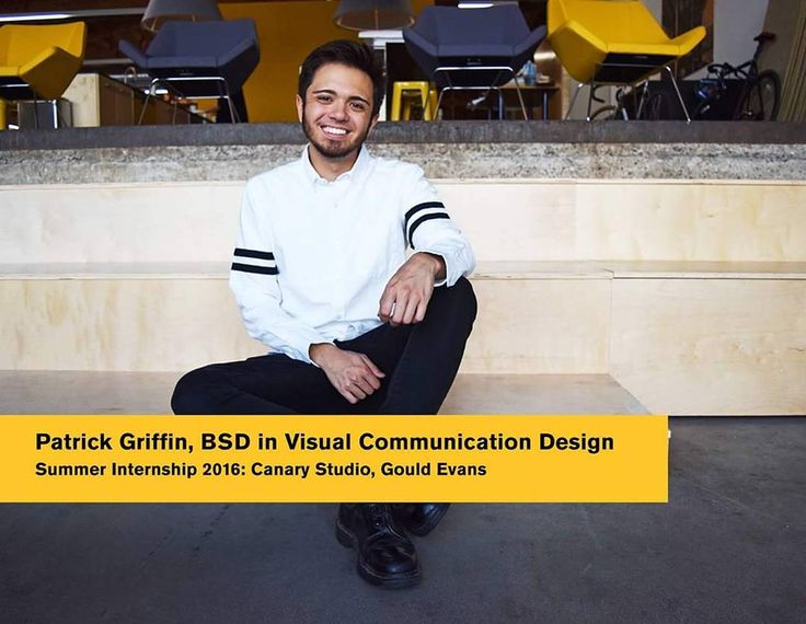 Patrick Griffin who is completing his BSD in Visual Communication Design talks to us about his internship:  Where are you completing your internship?  PG:Canary Studio a branding and interior design studio within architectural firm Gould Evans.  What have you learned throughout the internship so far?  PG: I have learned quite a bit but there is one lesson that stands out to me the most. Photoshop was always my go-to program my peers always thought I was crazy for this. However I learned the…