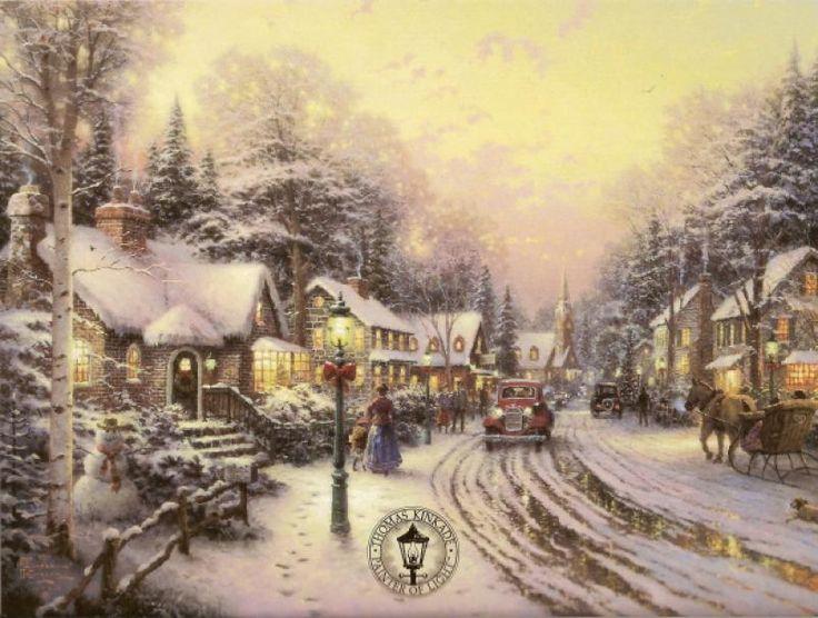 Thomas Kinkade Christmas Village Accessories