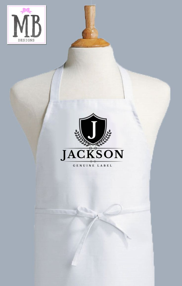 White apron on sale