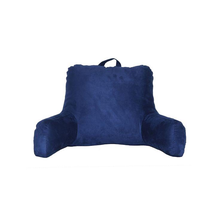 Faux Suede Backrest Pillow, Blue