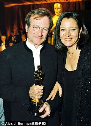 Robin Williams and his second wife Marsha Garces Williams.