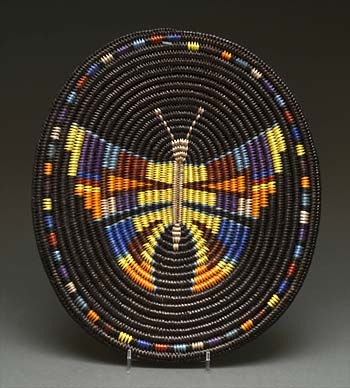Coiled Basket by Elsie Holiday (Navajo) http://www.heardmuseumshop.com/browse.cfm/4,12169.html