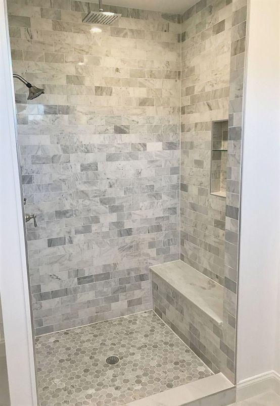 Shower Tile Shower Tile Ideas Shower Floor Is Carrara
