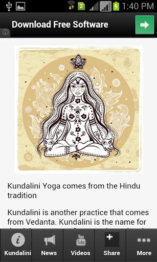 The most unique and high ranking app about Kundalini! <p>This is the most complete app you want when it comes to information about ayurveda. <p>Get the latest updates, news, information, videos, photos, events and amazing deals for chakras app lovers.<br>