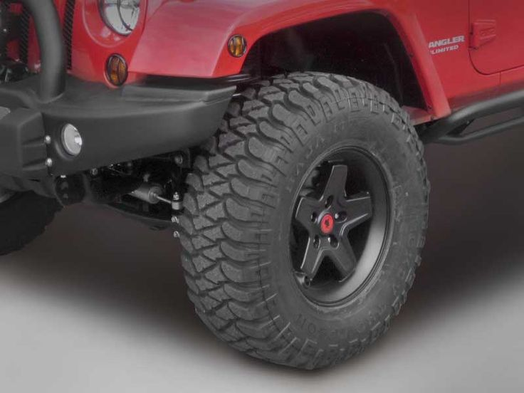 AEV Pintler Wheel in Black w/ custom red center cap | Jeep ...