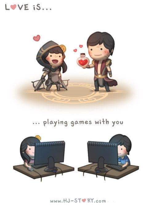 HJ-Story :: Love is... playing games with you - image 1